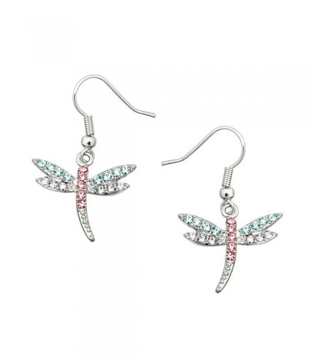 Liavys Multi Color Dragonfly Fashionable Earrings