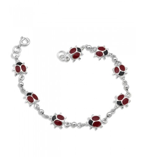 WithLoveSilver Sterling Silver Ladybugs Bracelets