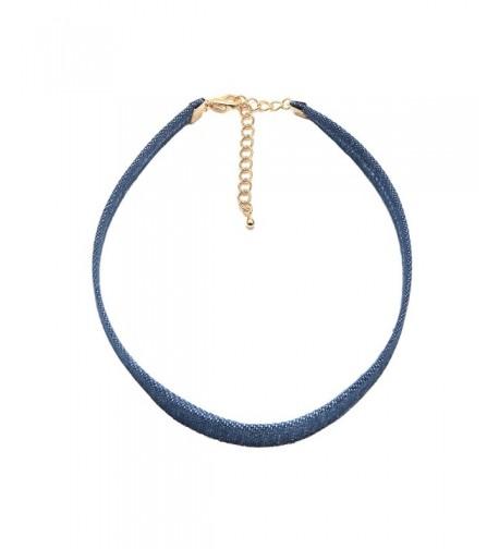 ChelseachicNYC Denim Blue Choker Necklace