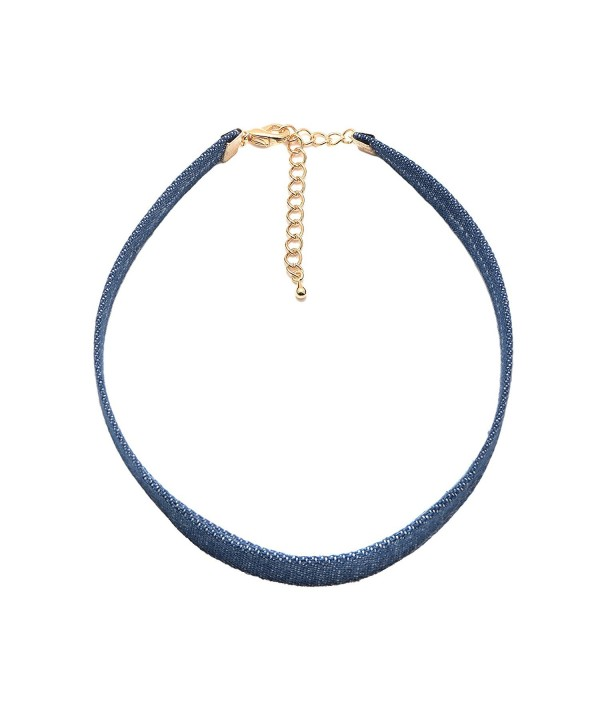 ChelseachicNYC Denim Blue Choker Necklace