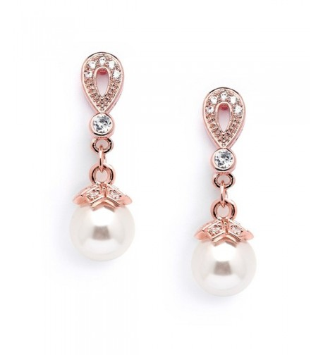 Mariell Plated Vintage Wedding Earrings