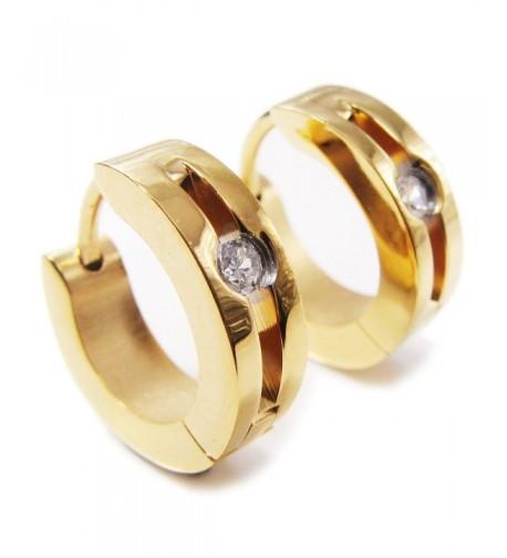 Stainless Steel Color Earrings Zirconia