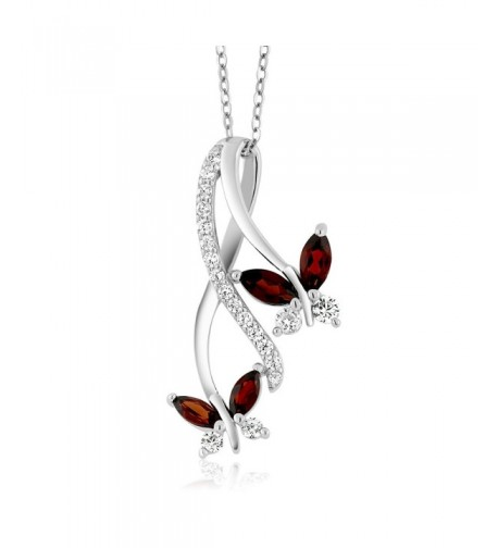 Sterling Marquise Butterfly Infinity Pendant