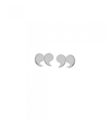 Boma Sterling Silver Quotation Earrings