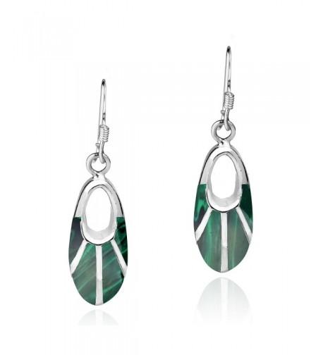 Celestial Malachite Sterling Silver Earrings
