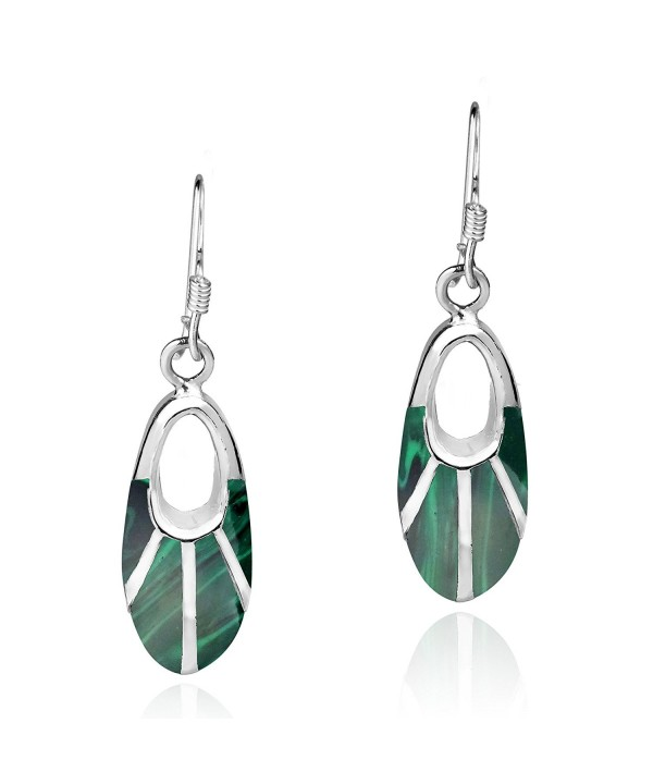 Celestial Malachite Sterling Silver Earrings