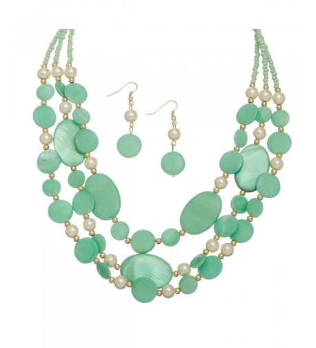 Turquoise Multi Shell Necklace Earring