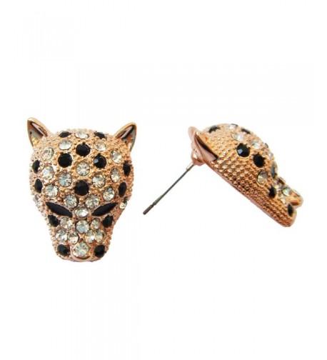 Navachi Leopard Crystal Az1146s Earrings