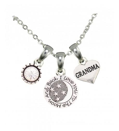 Grandma Silver Chain Necklace Jewelry