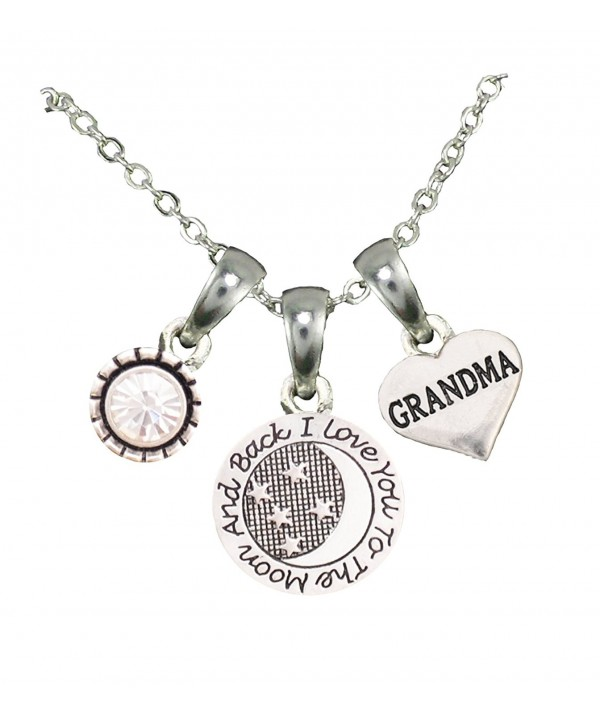 Grandma Silver Chain Necklace Jewelry