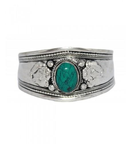 Turquoise Bracelet Tibetan Silver Gypsy