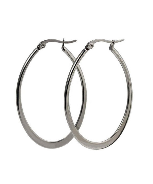 Stainless Click Top Earrings 47 7mm 29 8mm