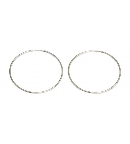 Medium Continuous Endless Silver Earrings