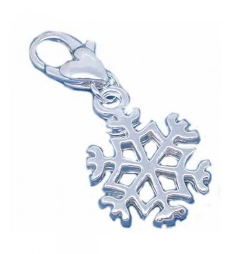 Snowflake Charm European Jewelry Lobster