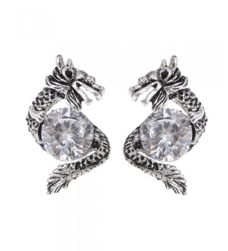 Alilang Silvery Protective Rhinestone Earrings