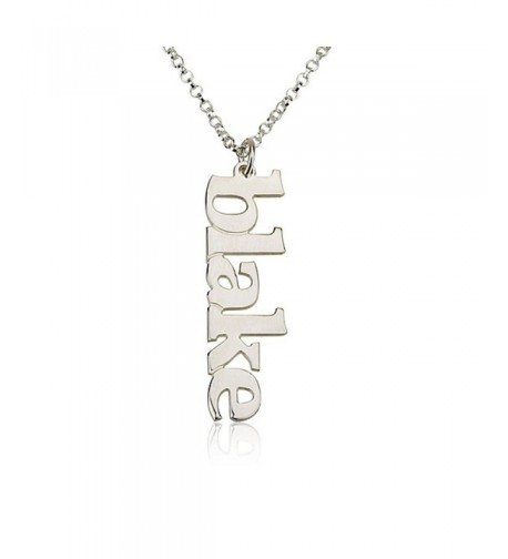 Vertical Necklace Personalized Sterling personalize
