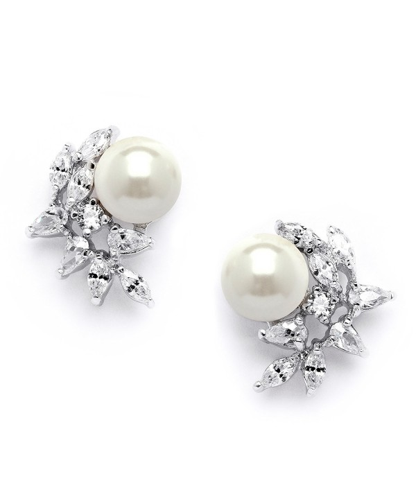 Mariell Cluster Wedding Earrings Bridesmaids