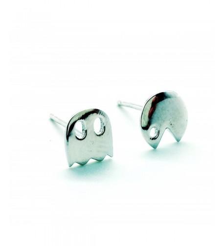 Sterling Silver Earring Earrings Pacman
