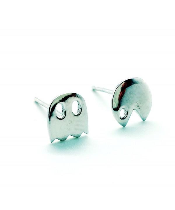 e1b1422cf Sterling Silver 925 Stud Earring- A Pair 5mm Stud Earrings Pacman ...