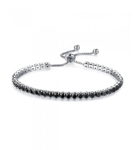 Fashion Silver tone Bracelet Zirconia Adjustable
