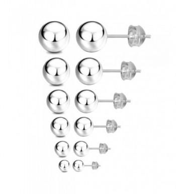 JADENOVA Sterling Earrings 3mm 8mm Assorted