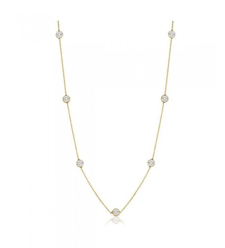 NYC Sterling Zirconia Station Necklace