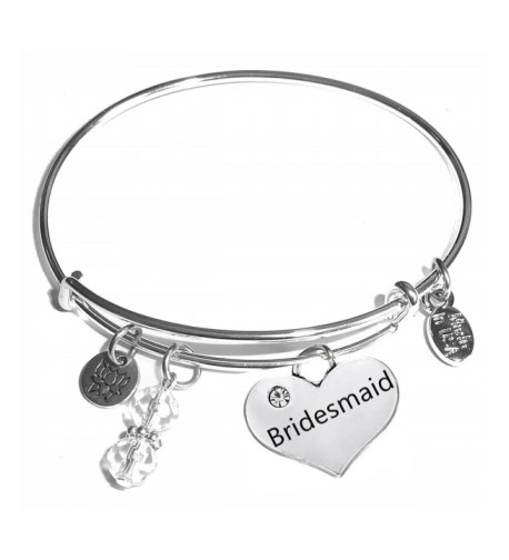 Message Expandable Bangle Bracelet Bridesmaid