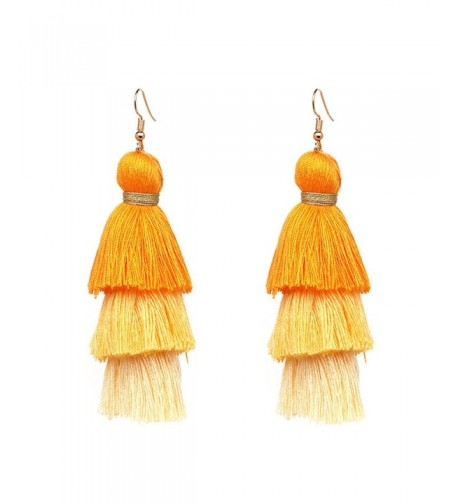 Thread Tassel Dangle Earrings Fringe