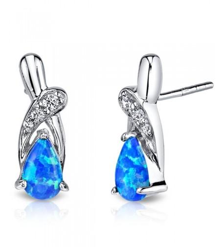 Created Ribbon Earrings Sterling Silver
