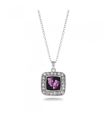 Acting Classic Silver Crystal Necklace