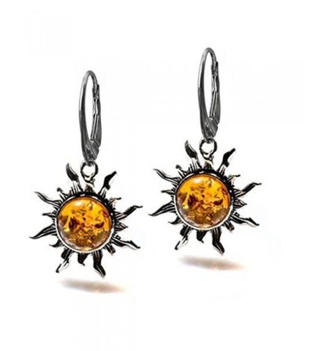 Sterling Silver Flaming Leverback Earrings