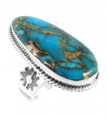 Turquoise Ring Sterling Silver Genuine