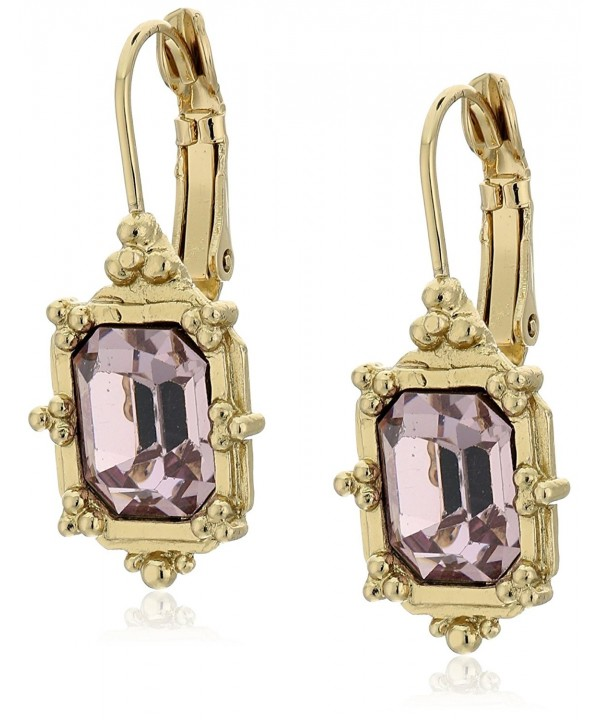1928 Jewelry Gold Tone Faceted Earrings
