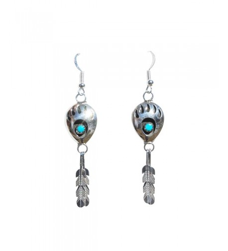 Hanging Feather Turquoise Handcrafted Earrings