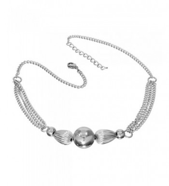 S Michael Designs Stainless Fluted Necklace