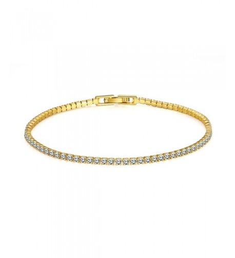 Sterling Gold Plated Swarovski Zirconia Round Cut