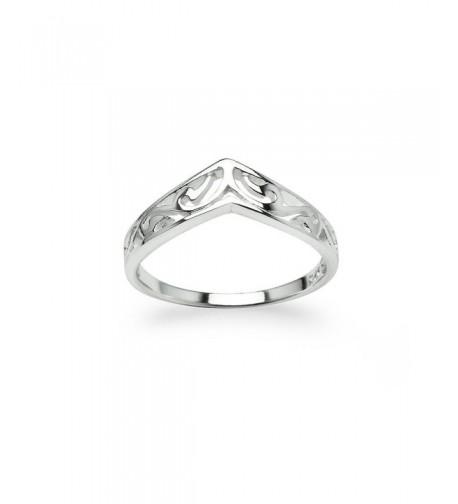 Chevron Shaped Victorian Ring Friendship