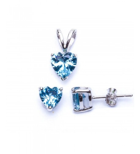 Simulated Aquamarine Pendant Sterling SC811168 AQ