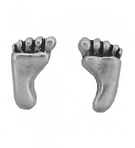 Sterling Silver Earrings Posts Footprint