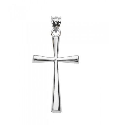 Solid White Simple Cross Pendant