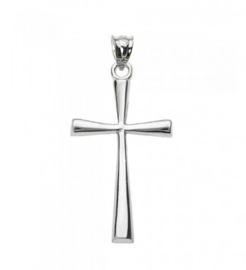 Solid White Simple Cross Pendant