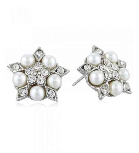 Downton Abbey Silver Tone Crystal Earrings