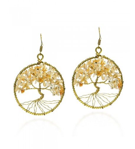 Eternal Yellow Citrine Branch Earrings