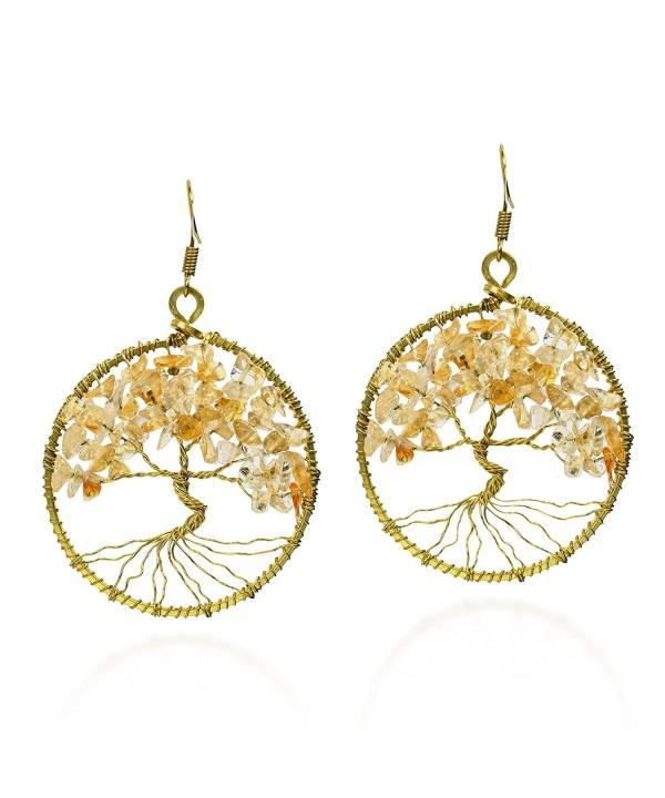 Eternal Yellow Citrine Branch Earrings