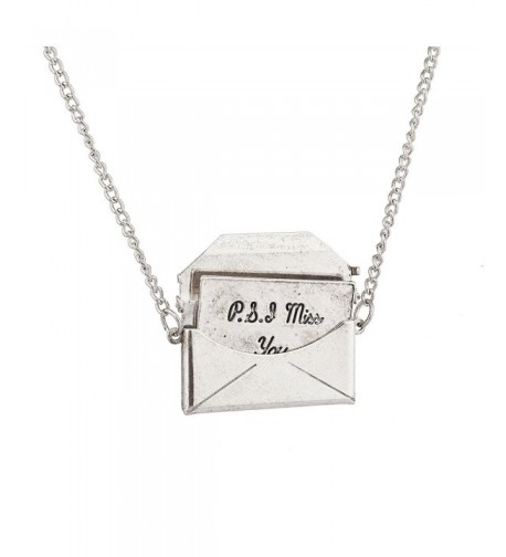 Lux Accessories Envelope Pendant Necklace