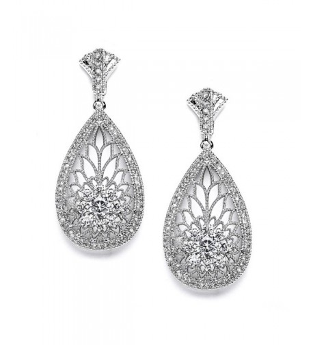 Mariell Vintage Wedding Earrings Brides