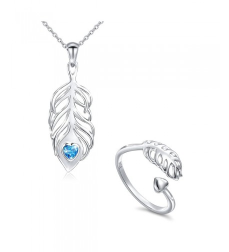 Sterling Feather Jewelry Necklace Christmas