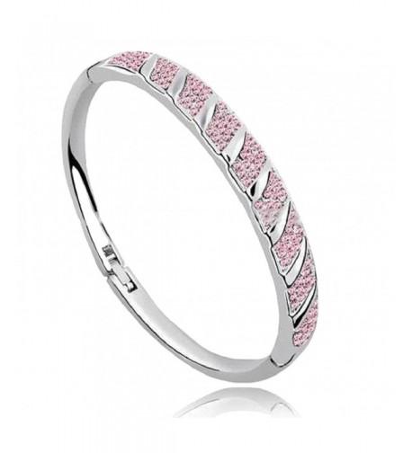 Bangle Crystal Bracelets Available Silver