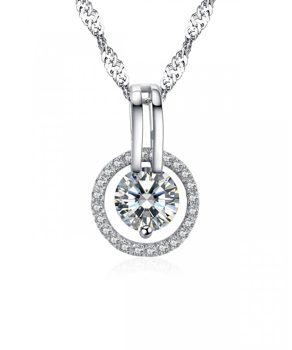Arieanna Sterling Guardian Swarovski Necklace