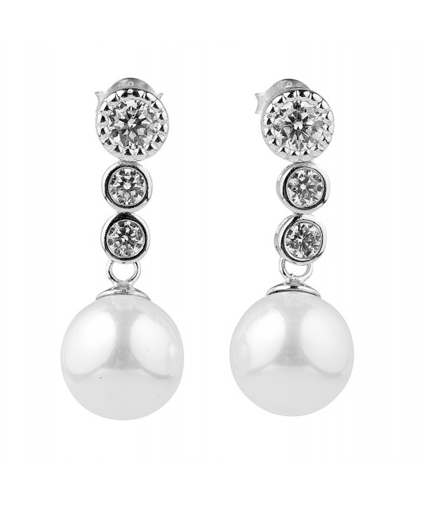 Sterling Zirconia Simulated Exquisite Earrings